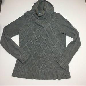 Izod Gray thick turtleneck sweater L